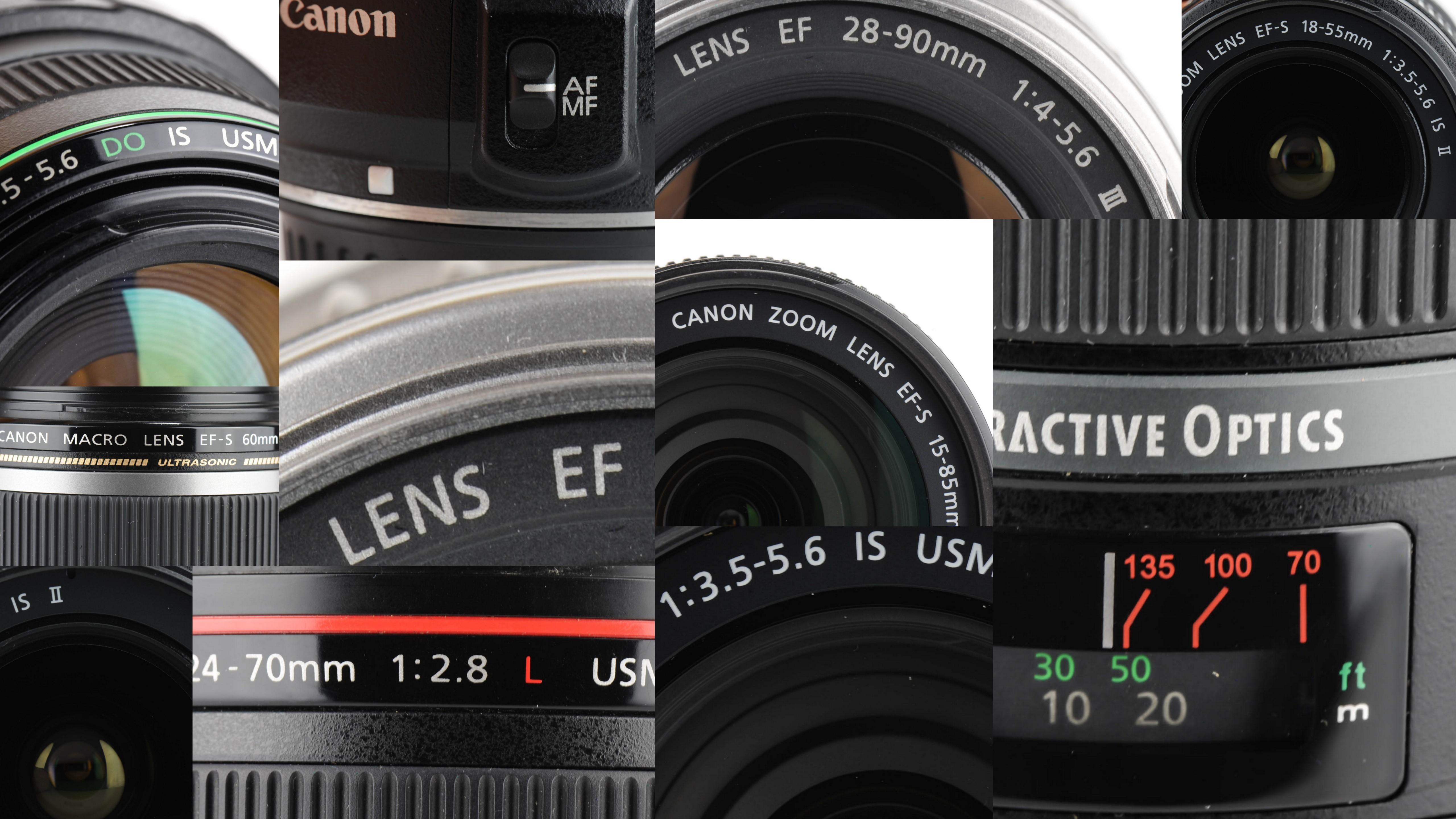 Die Abkürzungen auf Canon Objektiven und ihre Bedeutung