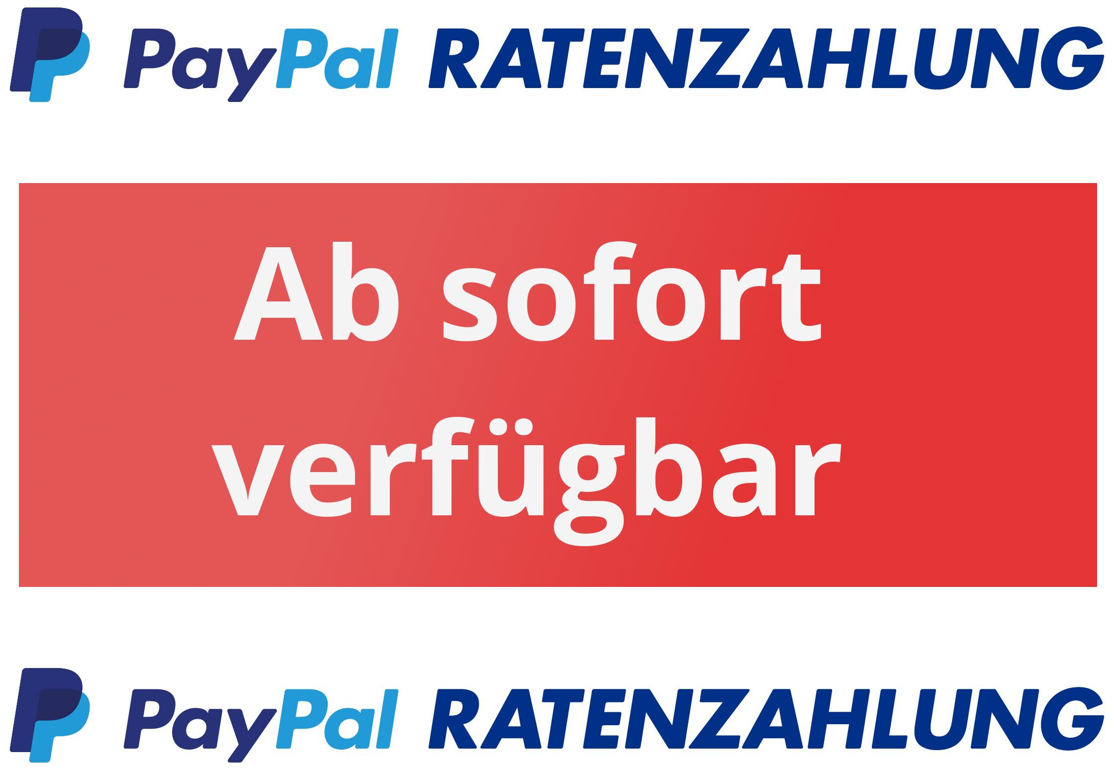 Ratenzahlung über Paypal möglich